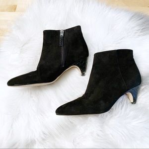 Sam Edelman Shoes - Sam Edelman Lucy Suede Heeled Booties Size 6